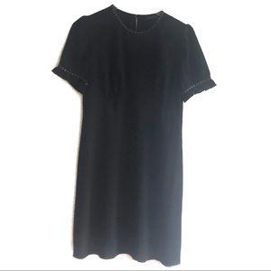 ALL SAINTS Black Studded Zadie Dress UK Sz 10 US 6